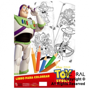 TOY STORY 4 LIBRO COLOREAR MINI x 8 UNID